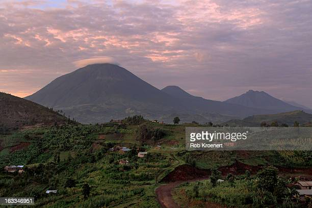 Virunga Volcanoes at Sunrise