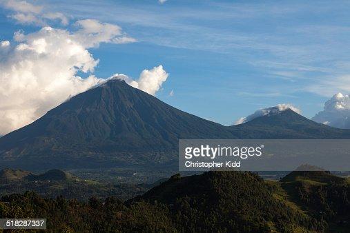 Virunga Volcanoes, Uganda, Rwanda and DRC : Stock Photo