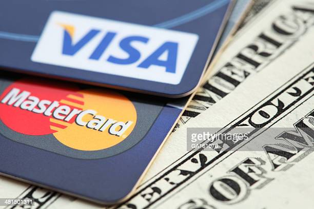 Visa and Mastercard credit cards on US dollars