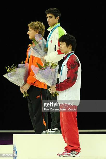 Visa Federation of International Gymnastics Daniel Corral Barron of Mexico wins the Gold medal Epke Zonderland of the Netherlands wins Silver and...