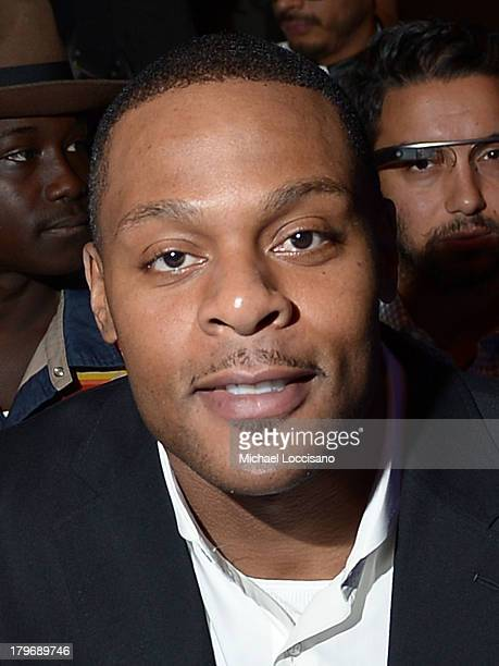 Visanthe Shiancoe attends the Nautica Men's Spring 2014 fashion show during MercedesBenz Fashion Week at The Stage at Lincoln Center on September 6...