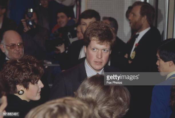 Viscount Althorp the brother of Diana Princess of Wales at the premiere of the film 'Absolute Beginners' in London 4th April 1986