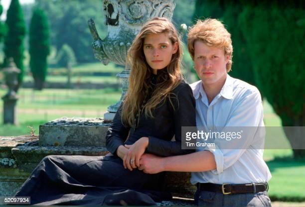Viscount Althorp With His Arms Around His Fiancee Model Victoria Lockwood In The Grounds Of The Spencer Family Home After Announcing Their Engagement