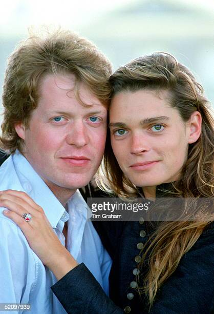 Viscount Althorp With His Fiancee Model Victoria Lockwood In The Grounds Of The Spencer Family Home After Announcing Their Engagement