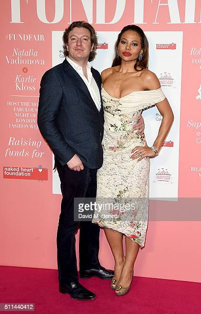 Viscount and Viscountess of Weymouth Emma McQuiston at The Naked Heart Foundation's Fabulous Fund Fair in London at Old Billingsgate Market on...