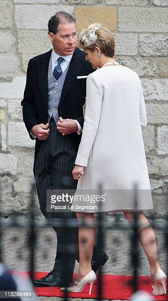 Viscount David Linley and Viscountess Serena Linley arrive to attend the Royal Wedding of Prince William to Catherine Middleton at Westminster Abbey...