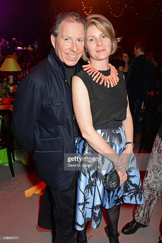 Viscount David Linley (L) and <a gi-track='captionPersonalityLinkClicked' href=/galleries/search?phrase=Viscountess+Serena+Linley&family=editorial&specificpeople=161116 ng-click='$event.stopPropagation()'>Viscountess Serena Linley</a> attend 'A Night of Reggae' hosted by Helena Bonham Carter for Save The Children UK at The Roundhouse on March 12, 2014 in London, England.
