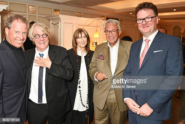 Viscount David Linley Frank Cohen Cheryl Cohen Sir David Tang and Ewan Venters attend the launch of Fortnum's X Frank at Fortnum Mason on September...