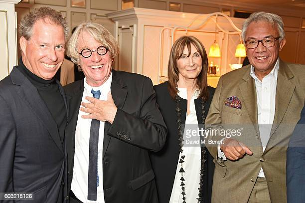 Viscount David Linley Frank Cohen Cheryl Cohen Sir David Tang attend the launch of Fortnum's X Frank at Fortnum Mason on September 12 2016 in London...