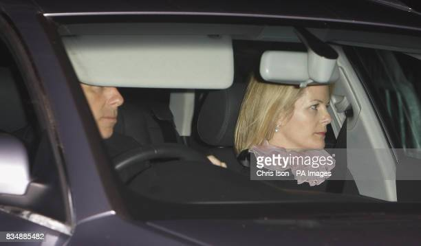 Viscount Linley and wife Serena arrive at Prince Charles's Highgrove home near Tetbury Gloucestershire where Prince Charles will be celebrating his...