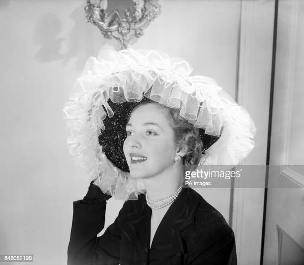 Viscountess Boyle modelling at the Simone Mirman fashion show at Chesham Place London Before her marriage she was Donna Catherine Irene Helen...