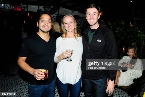 Vishal Chandawarkar Brittany Ritter and Tyler Barrett attend Espolòn Tequila Hosts Celebration in Partnership with Ai Weiwei Exodus Exhibit at Hotel...