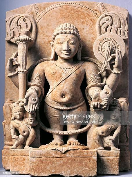 Vishnu sandstone relief from Meerut India Indian Civilisation 10th century
