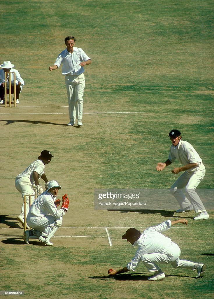 Vishwanath ct Brearley bowled Underwood Tony Greig at silly point India v England 3rd Test Madras Jan 197677