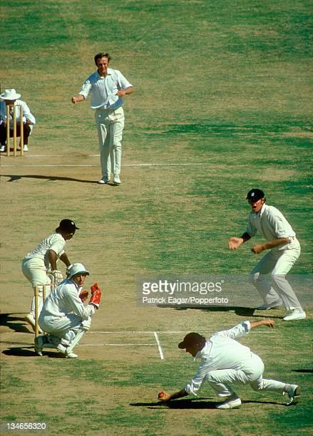 Vishwanath ct Brearley bowled Underwood Tony Greig at silly point India v England 3rd Test Madras Jan 197677