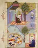 Vision of Hell miniature from The tales of Luqman Arabic manuscript 1583