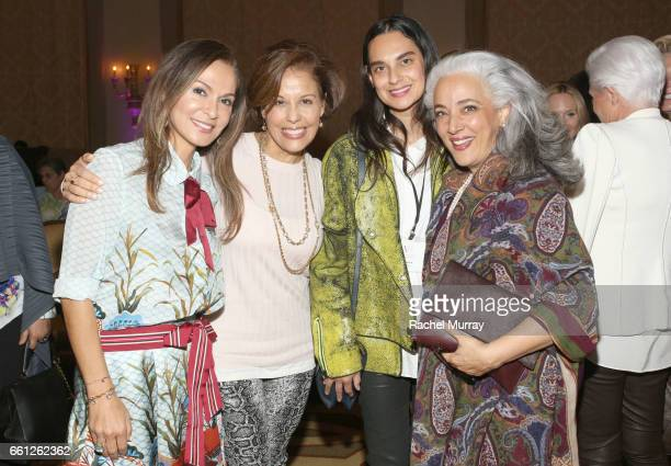 Visionary Women CoFounder and Executive Board Member Angella Nazarian Visionary Circle's Michele Ruiz and Sarvia Jasso attend the Visionary Women's...