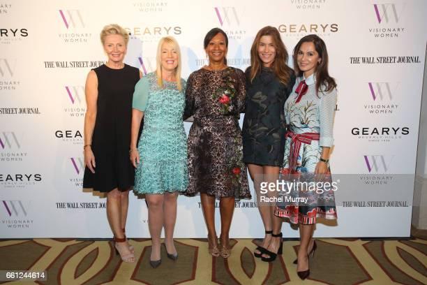 Visionary Women Executive Board Members Shelley Reid Lili Bosse Nicole Avant Veronica Grazer and Angella Nazarian attend the Visionary Women's Salon...
