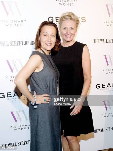 Visionary Women President and Executive Board Member Shelley Reid and Claudia Teran attend the Visionary Women's Salon Mind Body and Soul at Montage...