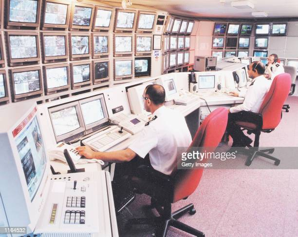 Visionics'' FaceIt technology is used to enhance CCTV operations in Newham England in this undated photo The automated facial recognition technology...