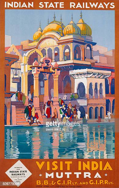 Visit India Muttra Poster by Roger Broders