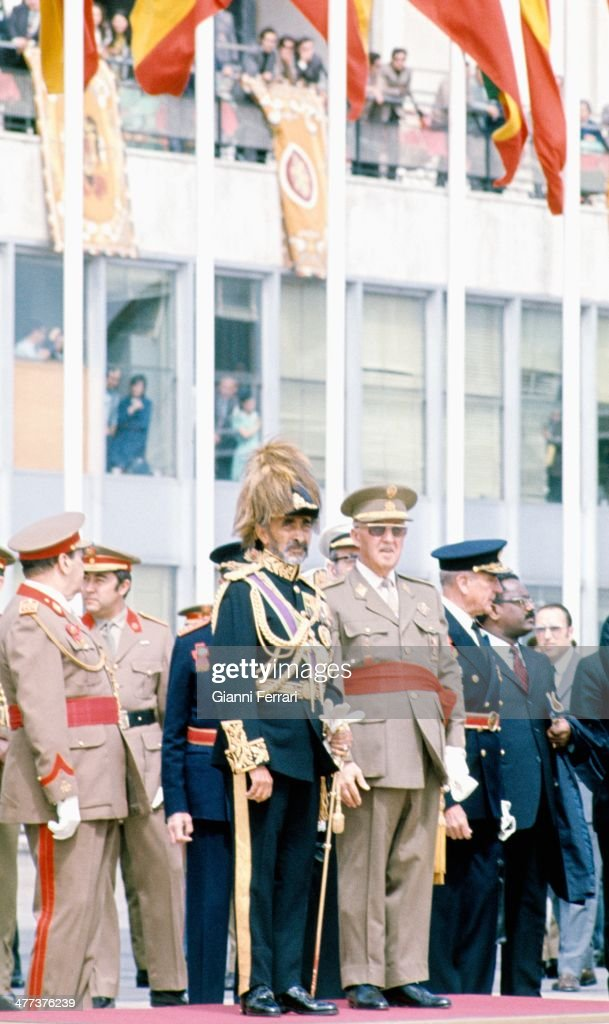 Visit of <a gi-track='captionPersonalityLinkClicked' href=/galleries/search?phrase=Haile+Selassie&family=editorial&specificpeople=93485 ng-click='$event.stopPropagation()'>Haile Selassie</a> to Spain received by <a gi-track='captionPersonalityLinkClicked' href=/galleries/search?phrase=Francisco+Franco&family=editorial&specificpeople=190209 ng-click='$event.stopPropagation()'>Francisco Franco</a>, 1971, Madrid, Spain.
