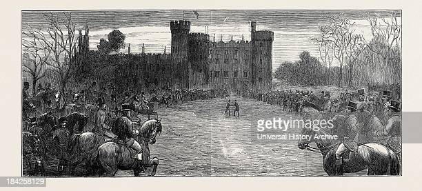 Visit Of HRH The Duke Of Connaught To Kilkenny Castle Meet Of The Foxhounds