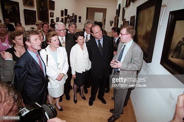 Visit Of Jacques Chirac In Lille With Three Ministers Of The Coalition En juin 1997 lors d'une visite du président de la république française Jacques...