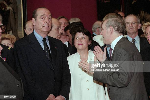 Visit Of Jacques Chirac In Lille With Three Ministers Of The Coalition En juin 1997 Visite du président de la république française Jacques CHIRAC au...