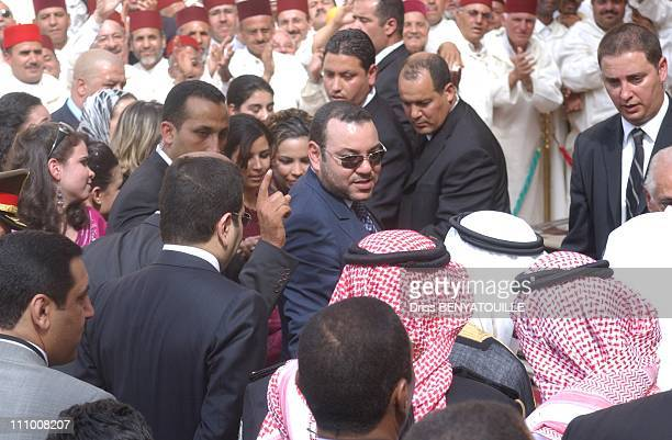 Visit of King Abdullah of Saudi Arabia in Morocco in Fes Morocco on May 19th 2007 He was welcomed by King Mohammed VI at the royal palace