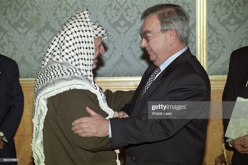 Visit of Palestinian leader Yasser Arafat in Moscow, Russia, in February 1997. Pictured: Yasser Arafat and Russian Prime Minister Yevgeny Primakov.