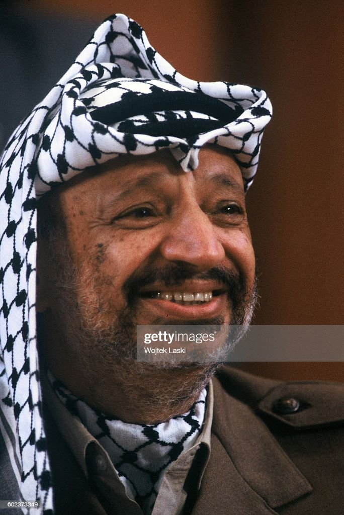 Visit of Palestinian leader Yasser Arafat in Moscow, USSR, in November 1987.