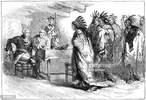 Visit of Pontiac and the Indians to Major Gladwin 1763 Pontiac was a chief of the Ottawa people He led a rebellion against the British in the Great...
