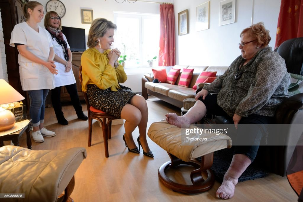 Visit of Queen Mathilde to the Federation 'Aide et Soins à Domicile' (home care).
