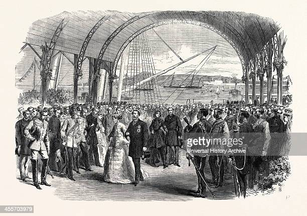 Visit Of The Prince And Princess Of Wales To Ireland The Royal Party Landing At The Victoria Wharf Kingstown 1868