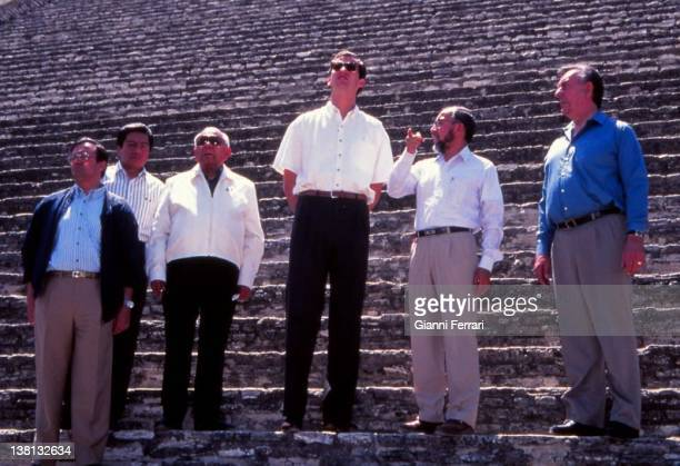 Visit of the Spanish Prince Felipe of Borbon to Tasco Tasco Mexico