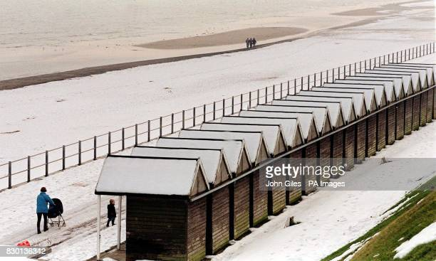 A visit to the beach this weekend would produce more snowmen than sandcastles as Bridlington beach is covered insnow after heavy falls along the East...