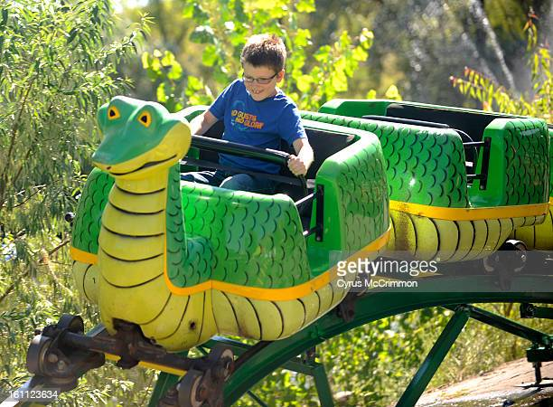 Visit to the two kiddie roller coasters at Heritage Square Amusement Park in Golden on Tuesday August 17 2010 8yearold Nathan Bennion of Littleton...