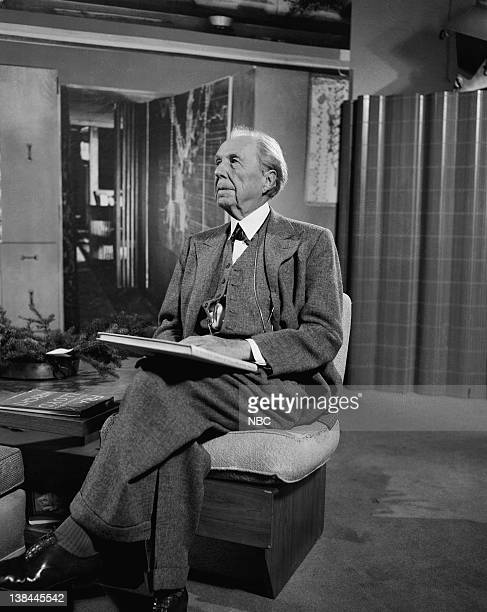 MEN 'A Visit with Frank Lloyd Wright' Episode 105 Pictured Architect Frank Lloyd Wright during an interview in Chicago on May 8 1953