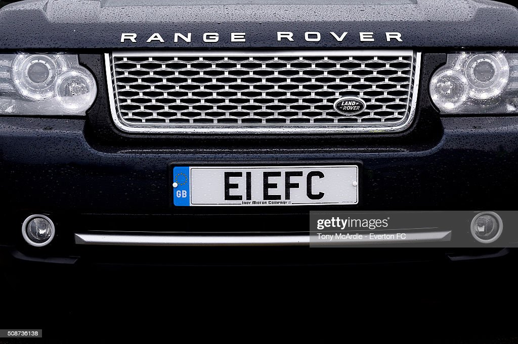 A visiting fans personal number plate before the Barclays Premier League match between Stoke City v Everton at the Britannia Stadium on February 6, 2016 in Stoke on Trent, England.
