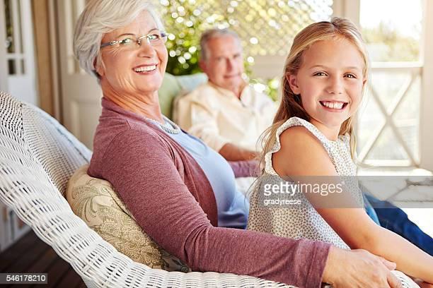 Visiting granny and grandpa