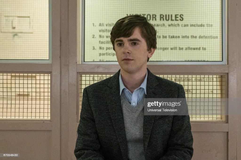 MOTEL -- 'Visiting Hours' Episode 509 -- Pictured: Freddie Highmore as Norman Bates --