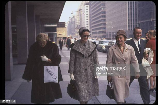 Visiting Princess Grace of Monaco formerly actress Grace Kelly shopping with mother Mrs John B Kelly