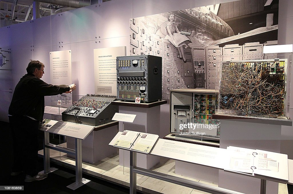 A visitor at the Computer History Museum looks at a display of Reeves electronic analog computer at the Computer History Museum on January 19, 2011 in Mountain View, California. After a two year, $19 million renovation, the Computer History Museum re-opened its doors with a new 25,000 square foot exhibit called Revolution: The First 2000 Years of Computing. The exhibit features over 1,000 artifacts and 100 multimedia stations that explores every major aspect of the history of computing, from the abacus to the smart phone, and every step in between.