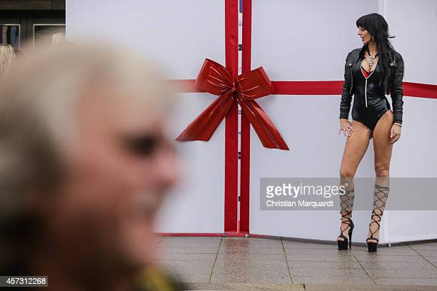 A visitor attends the 'Venus Erotic Fair 2014' on October 17 2014 in Berlin Germany