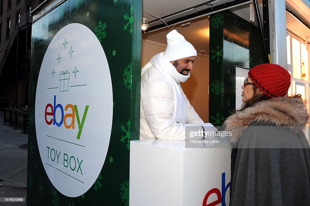 A visitor checks out eBay's new way to give and get the season's hottest toys with mobile at The eBay Toy Box in New York City on December 6, 2012.