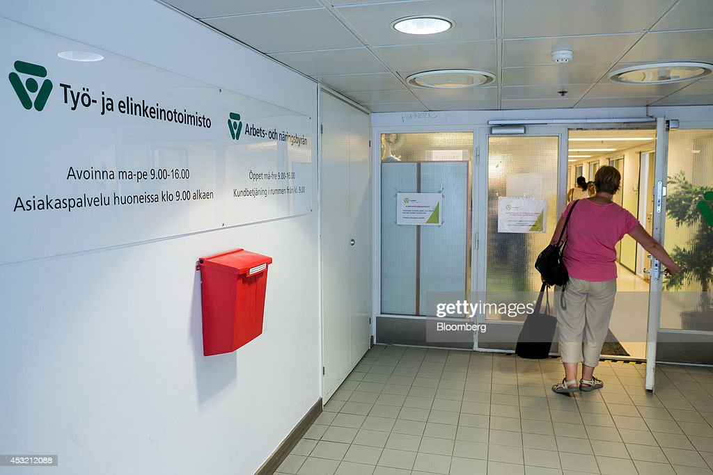 A Visitor Enters An Employment Office For Jobseekers In Helsinki Finland On Tuesday