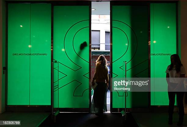 A visitor exits the Benetton Group SpA store on Brompton Road in London UK on Tuesday Sept 18 2012 Benetton Group SpA the familyowned Italian fashion...