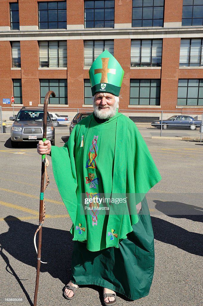 A visitor from Ireland attends the South Boston 2013 St. Patrick's Day Parade on March 17, 2013 in South Boston, Massachusetts.