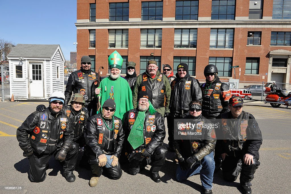 A visitor from Ireland poses at the South Boston 2013 St. Patrick's Day Parade on March 17, 2013 in South Boston, Massachusetts.